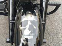 Airbrush harley davidson frontfender skull