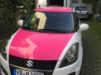 carwrapping lady style pink
