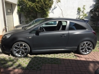 carwrapping opel corsa opc black matt edition
