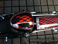 Kandy Custompainting Blattsilber Checker Borad mit Pinstriping