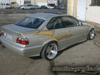 gold leafing Design bmw heck